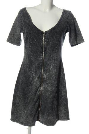 Asos Vestido de manga corta gris claro estampado con diseño abstracto
