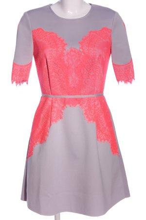 Asos Kurzarmkleid hellgrau-pink Elegant