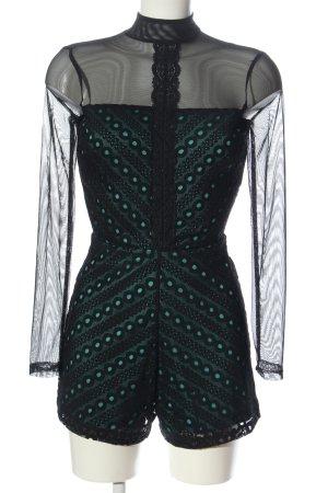 Asos Kurzer Jumpsuit black-turquoise elegant