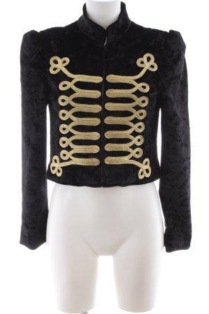 Asos Kurzjacke schwarz-goldfarben extravaganter Stil