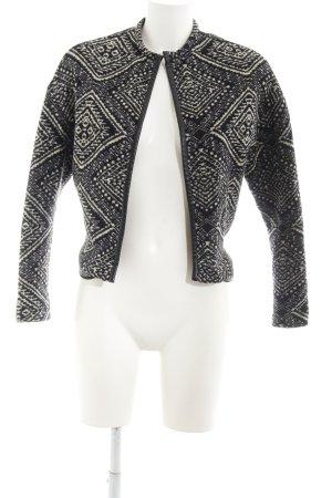Asos Kurzjacke schwarz-wollweiß abstraktes Muster Ethno-Look