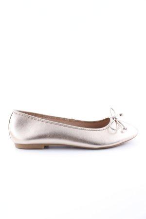 Asos Ballerina di pelle verniciata argento stile casual