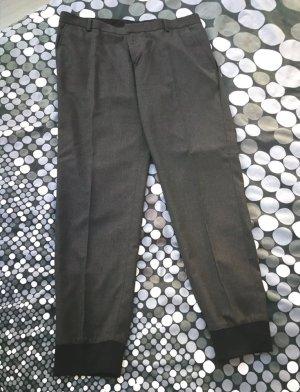 Asos Pantalone chino nero-grigio scuro Poliestere