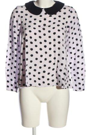 Asos Long Sleeve Blouse black-white spot pattern casual look