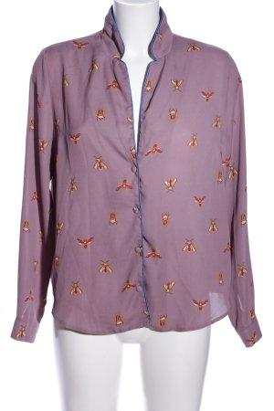 Asos Langarm-Bluse pink-blassgelb Allover-Druck Casual-Look