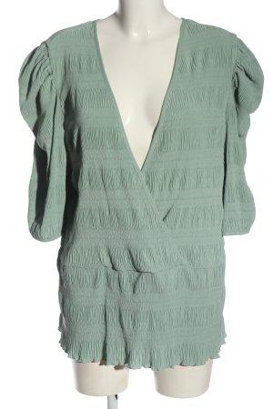 Asos Langarm-Bluse grün Business-Look