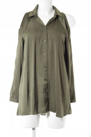 Asos Langarm-Bluse olivgrün Casual-Look