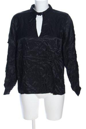 Asos Langarm-Bluse schwarz Elegant