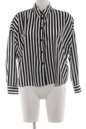 Asos Langarm-Bluse weiß-schwarz Streifenmuster Casual-Look
