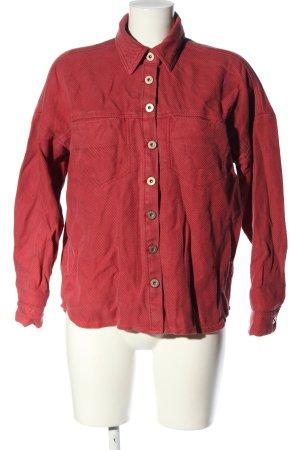 Asos Langarmhemd rot Streifenmuster Casual-Look