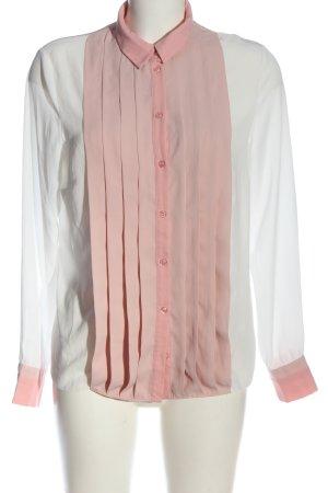 Asos Langarmhemd weiß-pink Elegant