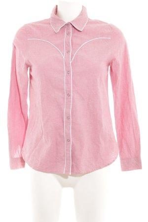 Asos Langarmhemd rosa-weiß