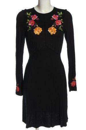 Asos Langarmkleid schwarz Blumenmuster Casual-Look