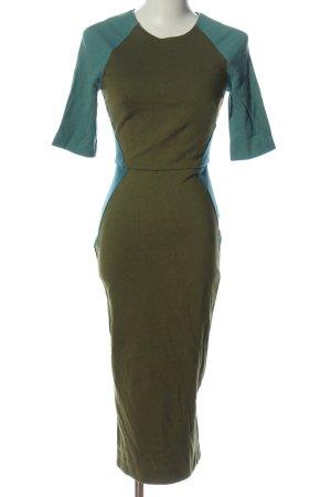 Asos Robe découpée kaki-turquoise style décontracté
