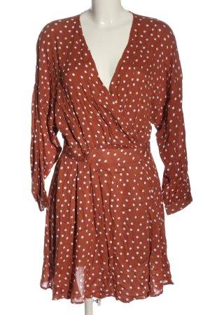 Asos Longsleeve Dress red-white spot pattern casual look