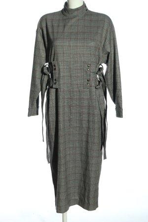 Asos Longsleeve Dress light grey check pattern casual look