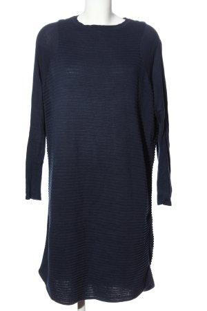 Asos Longsleeve Dress blue striped pattern casual look