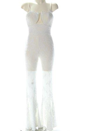 Asos Langer Jumpsuit blanco estilo fiesta