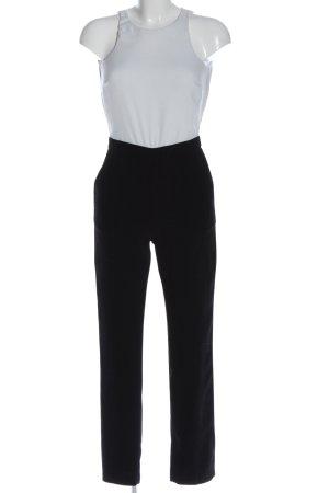 Asos Langer Jumpsuit weiß-schwarz Casual-Look
