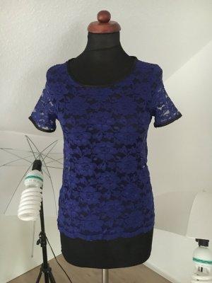 Lashes Lace Top black-blue