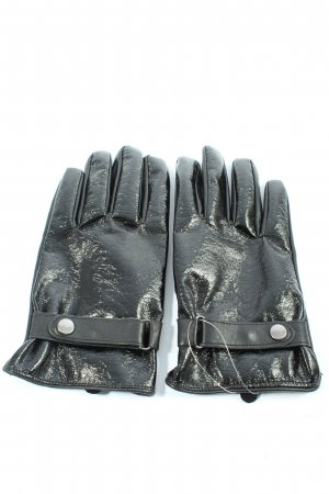 Asos Leather Gloves black casual look