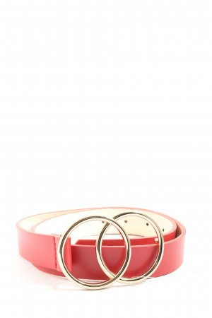 Asos Faux Leather Belt red casual look