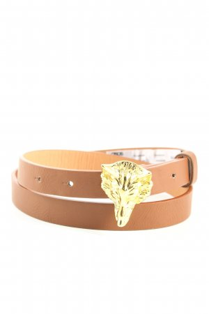 Asos Faux Leather Belt brown-gold-colored casual look