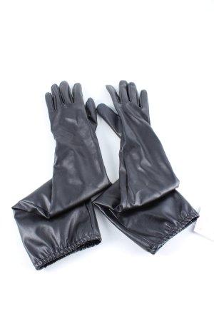 Asos Handschoenen van imitatieleder zwart casual uitstraling