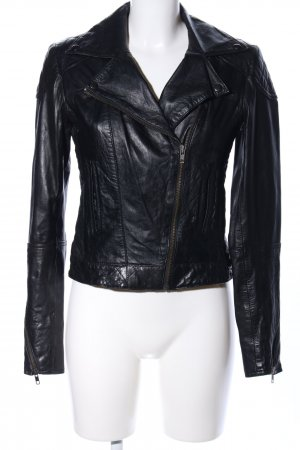 Asos Leather Jacket black casual look