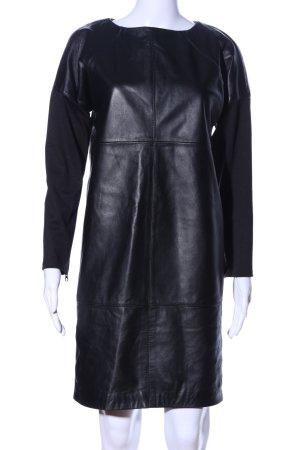 Asos Lederkleid schwarz extravaganter Stil