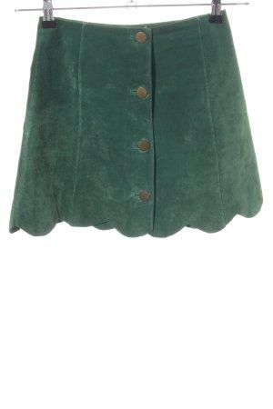 Asos Falda de cuero verde look casual
