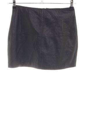Asos Lederrock schwarz extravaganter Stil