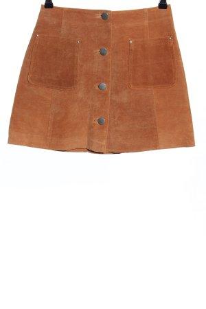 Asos Jupe en cuir orange clair style décontracté