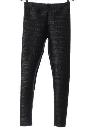 Asos Leggings nero-grigio chiaro motivo a righe stile casual