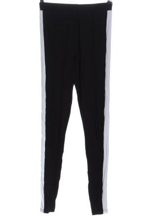 Asos Leggings negro-blanco look casual