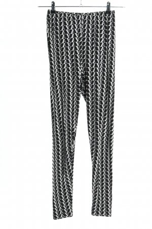 Asos Leggings schwarz-weiß Allover-Druck Casual-Look