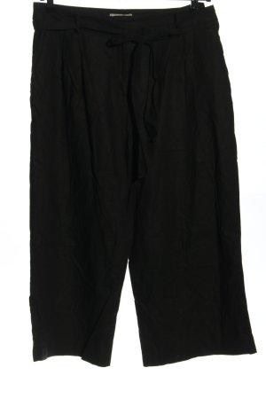 Asos Lniane spodnie czarny W stylu casual