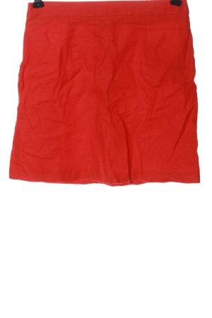 Asos Lniana spódnica czerwony W stylu casual
