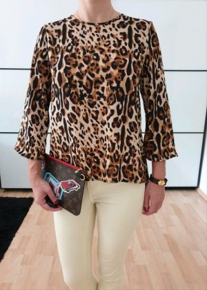 Asos Leo Bluse XS S 34 36 schwarz Top Shirt Hemd Longshirt Oberteil Tunika Neu