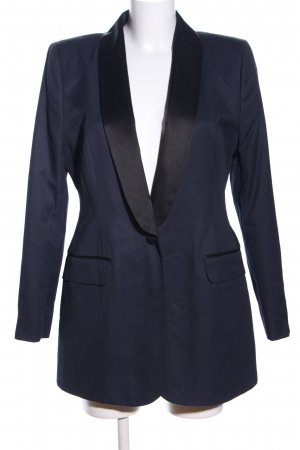 Asos Long-Blazer blau Business-Look