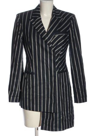 Asos Long-Blazer schwarz-weiß Streifenmuster Elegant