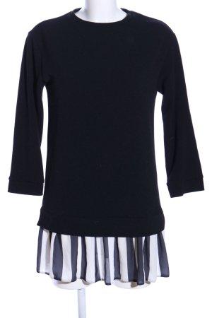 Asos Longpullover schwarz-weiß Streifenmuster Casual-Look