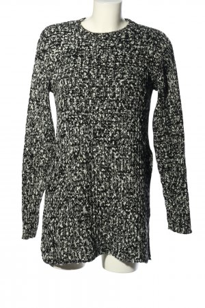 Asos Longpullover schwarz-weiß Zopfmuster Casual-Look