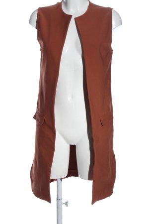 Asos Gilet long tricoté brun style décontracté