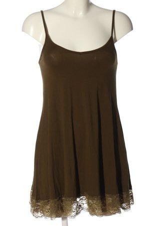 Asos Długi top brązowy W stylu casual