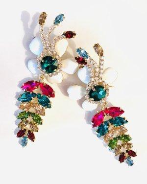 Asos Luxus Statement Ohrringe Blüten Bunt Funkeln!!