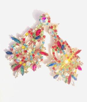 Asos Boucle d'oreille incrustée de pierres multicolore