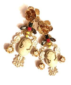 Asos Zdobione kolczyki złoto-biały