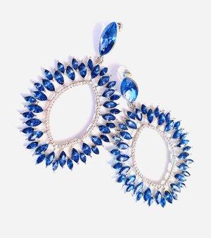 Asos Luxus Statement Ohrringe Vintage Kristallblau