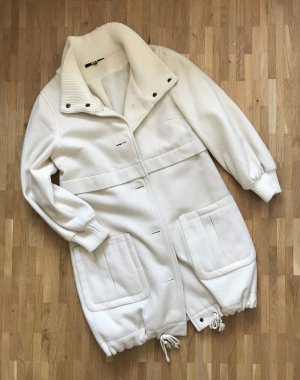 ASOS Mantel XS 34 Wolle Parka Wollweiß Wollmantel Trenchcoat Jacke Übergang Lang